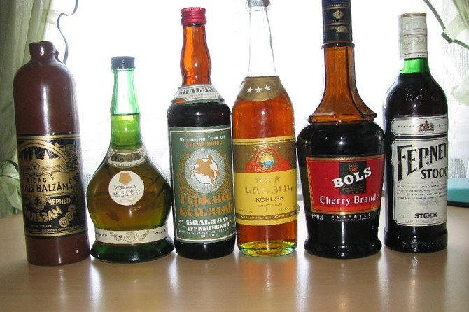 Taste of alcohol of USSR