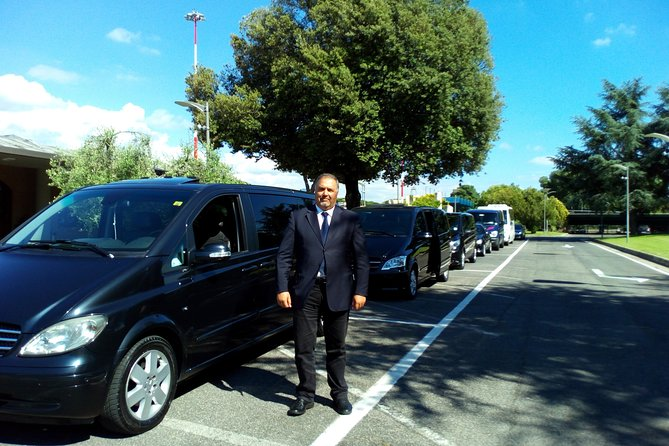 Transfer Fiumicino FCO Airport to/from Forte dei Marmi optional Orbetello Stop