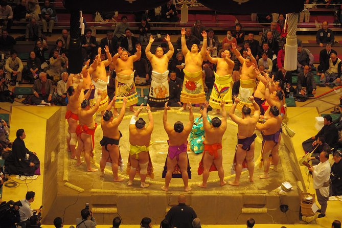 Sumo Wrestling Tournament Experience in Tokyo