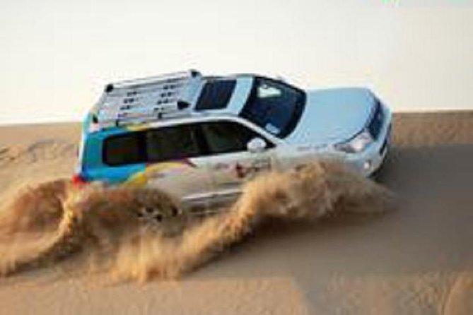 Passeio pelo deserto de Dubai em 4x4 nas dunas, sandboarding, passeio de camelo, jantar