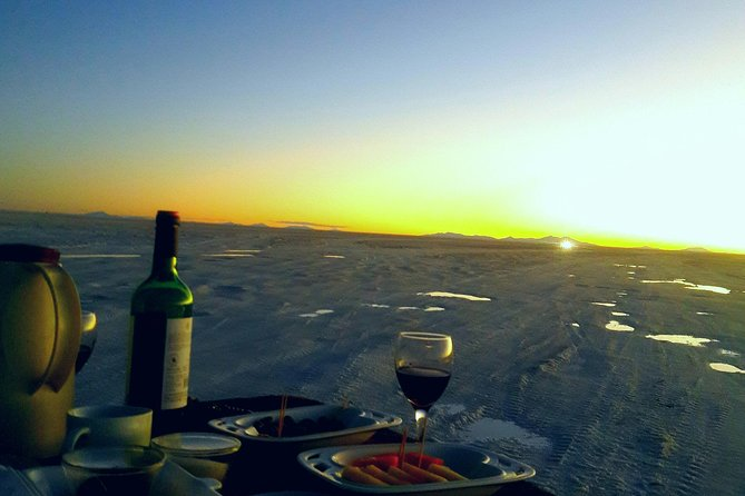 Private gourmet dinner in Uyuni Salt Flats, with Hotel Pick up.