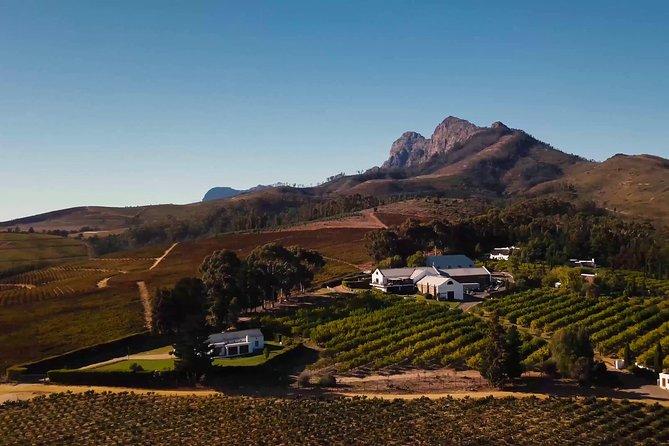 Meio dia de Stellenbosch Winelands saindo da Cidade do Cabo