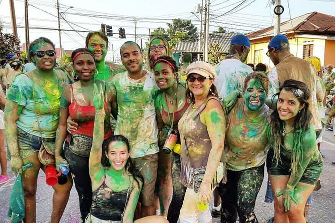 Trinidad Carnival J'Ouvert Street Party Experience with Costume and Drinks