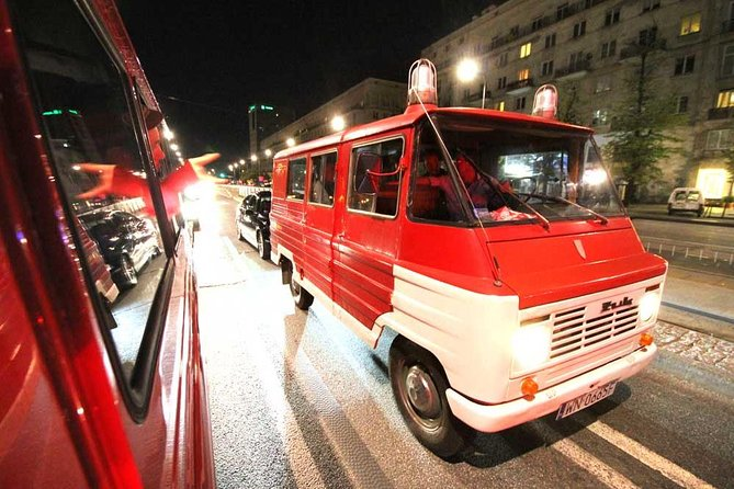 Warsaw Evening Tour (history and pubs) by retro minibus