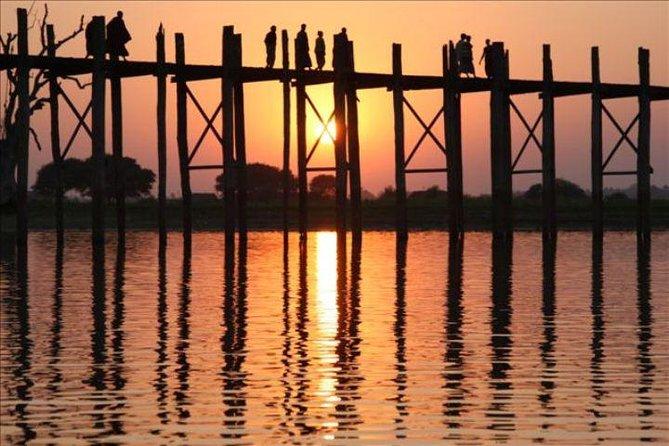 Sunset at U Bein Bridge Mandalay Evening Tour