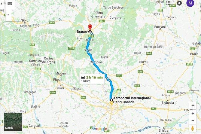 Bucharest Otopeni Airport to Brasov private transfer