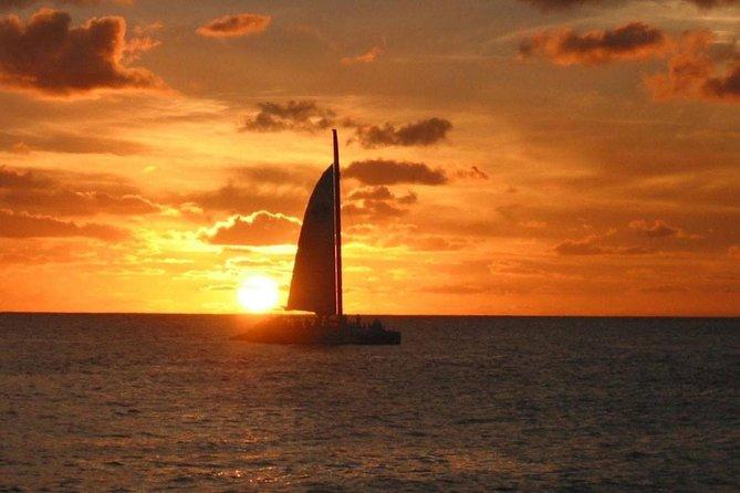 Navegação romântica ao pôr do sol em Curaçao