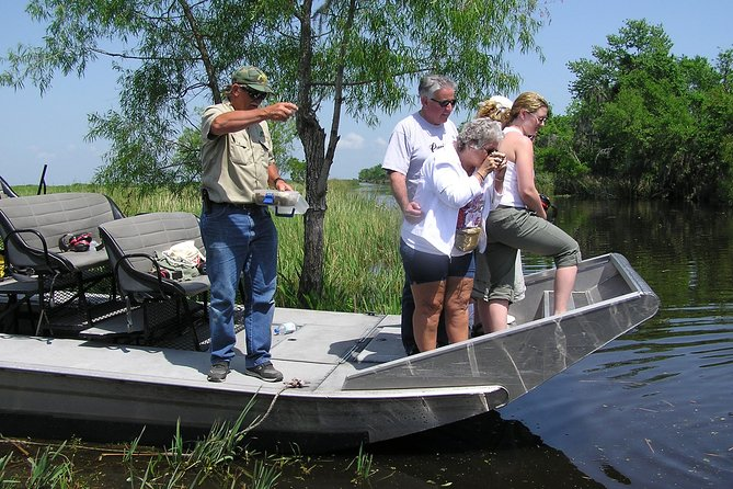 Small-Group Airboat Swamp Adventure and Plantation Tour from New Orleans