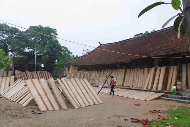 Visit rice paper making village Tho Ha