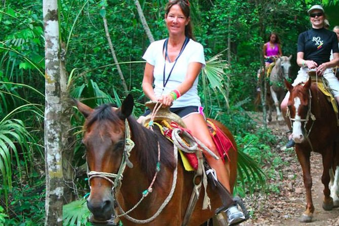 Ziplining and Horseback Riding Experience from Cancun and Playa del Carmen
