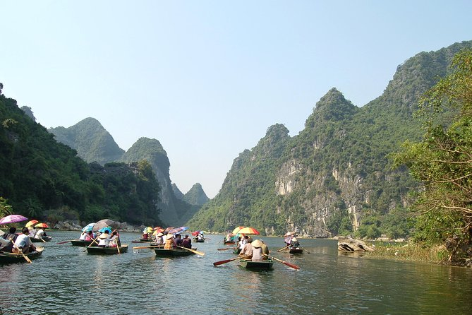 Full day Van Long Natural Reserve and Hoa Lu ancient town in Ninh Binh