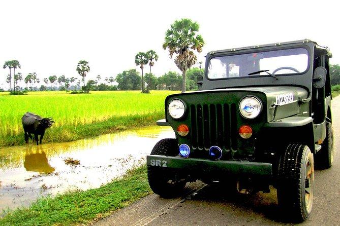 Private Siem Reap Countryside Ganztägige Jeep-Rad- und Bootstour