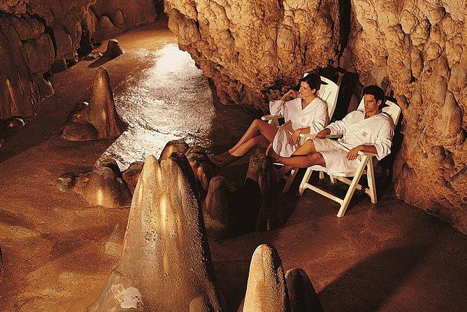 Wellness-ervaring in een thermale grot in Toscane met diner
