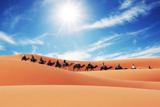 Camel Trekking and Night Camping in Merzouga Desert, Morocco