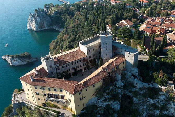 The Giant Cave and Duino Castle from Trieste
