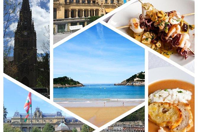 Paseo a pie por San Sebastián y cena de la Sociedad Gastronómica.