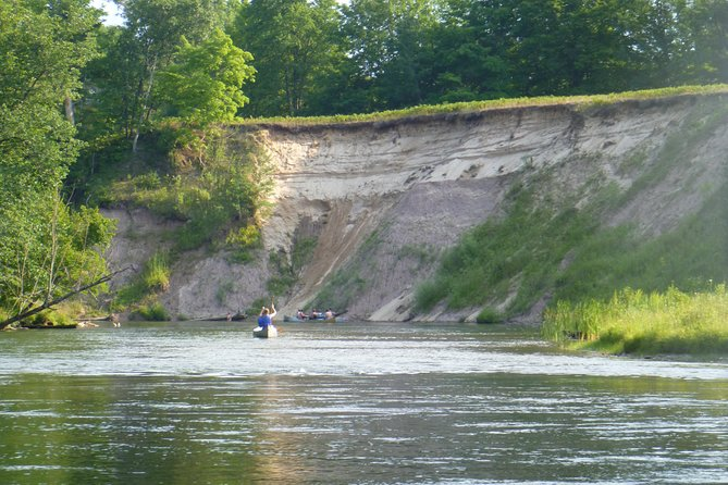 The famous sand-clay cliffs of the Manistee