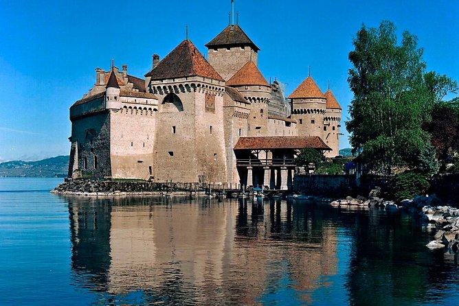 Viagem diurna no inverno por Montreux, Château de Chillon, e Chaplin's World, saindo de Genebra