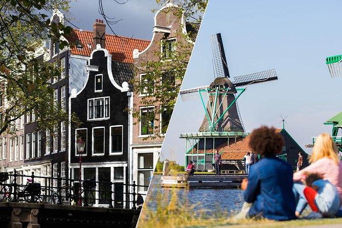 Amsterdã supereconômica: city tour e viagem diurna para os moinhos de vento de Zaanse Schans, Volendam e Marken