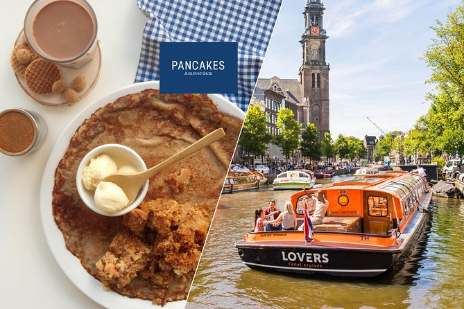 Amsterdam Canal Cruise from Anne Frank House Stop Plus Pancake & Drink