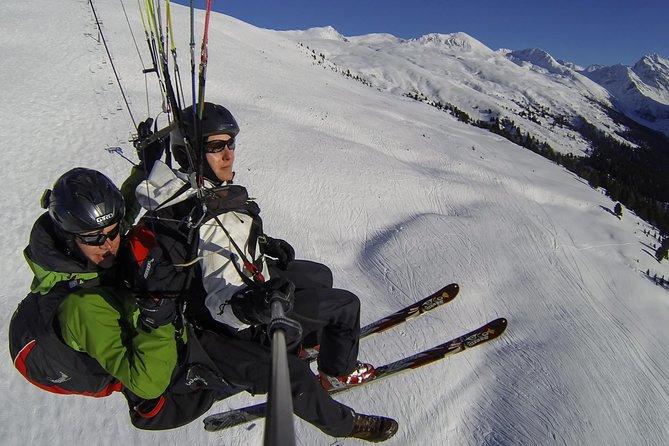Ski&Fly over Davos ski slopes