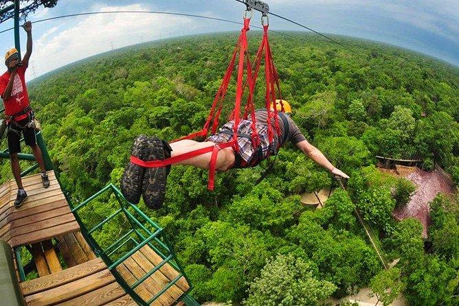Cenote Maya og Extreme Excursion Zipline ATV Tarzan hoppe og Cenote Maya