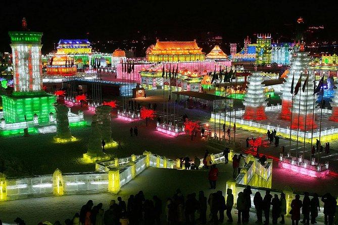 Longqing Gorge Ice Lantern Festival with Mongolian Hot Pot Dinner
