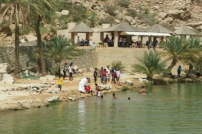 Private Day Trip to Wahiba Sands and Wadi Bani Khalid from Muscat
