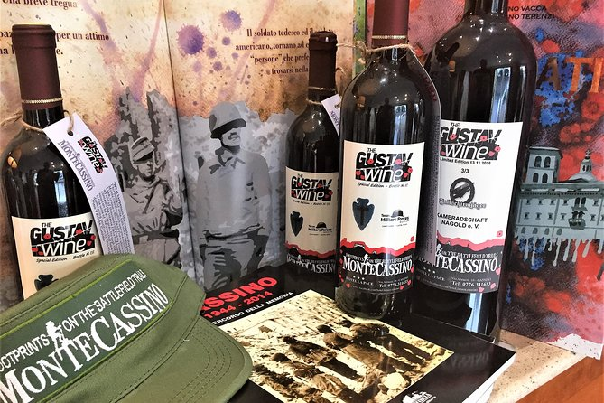 Aperitivo avec l'histoire du Monte Cassino et le vin Gustav