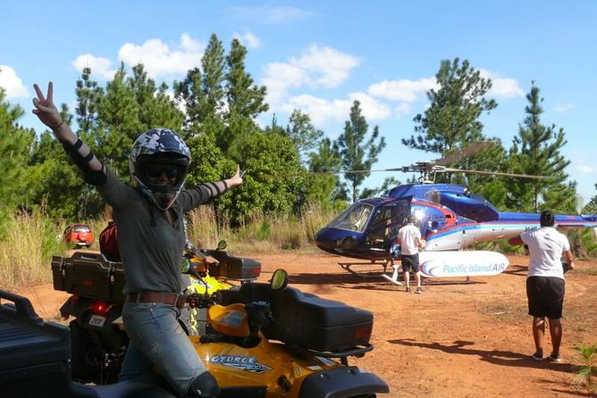 ATV Quad Bike and Helicopter Adventure Tour to Remote Village (Departs Nadi)