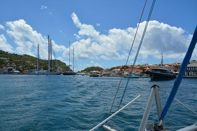 Sailing into Gustavia