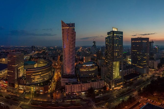 Warsaw Evening, guided bus group tour with a pint of Polish beer/pickup&drop-off
