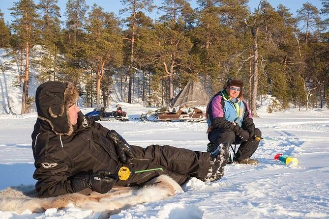 Ice Fishing Safari to Lake Inari from Ivalo