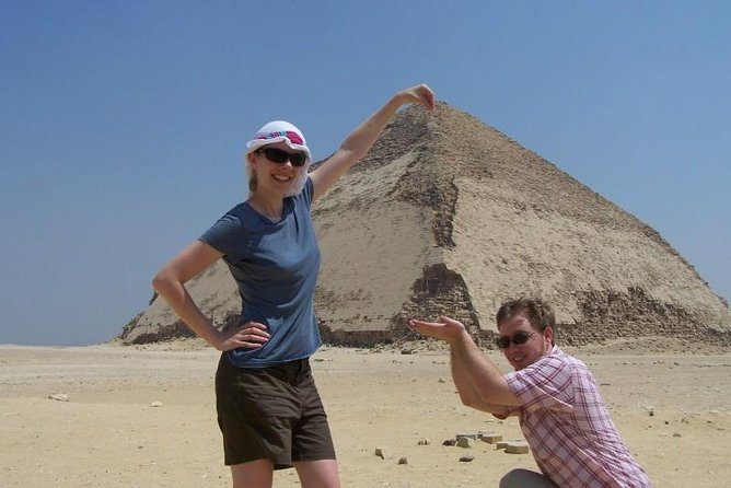 private tour to bent and true pyramids with local markets and Egyptian foods