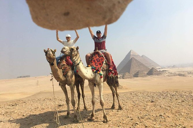 Giza pyramids and cairo museum trip from Hurghada by flight