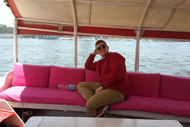 Nile Felucca in Cairo and Traditional Food Koshry from Cairo or Giza hotel