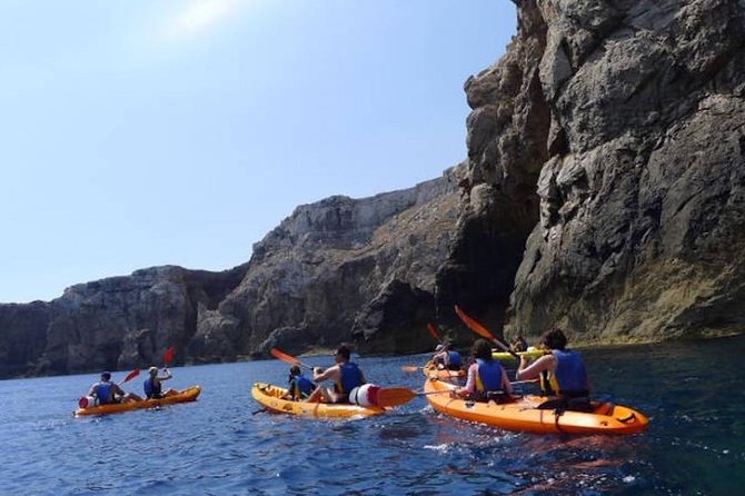 Kayaking-caves trip with snorkelling in the marine reserve of Menorca