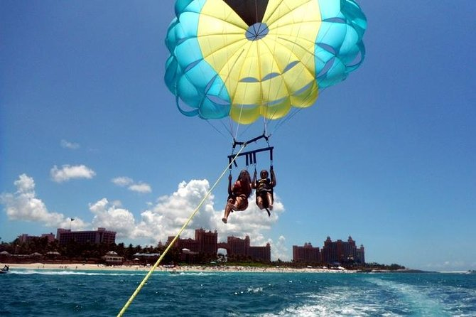 Double Parasail Over Cabbage Beach