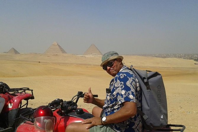 Quad Bike at Giza Pyramids and Camel Ride during surise