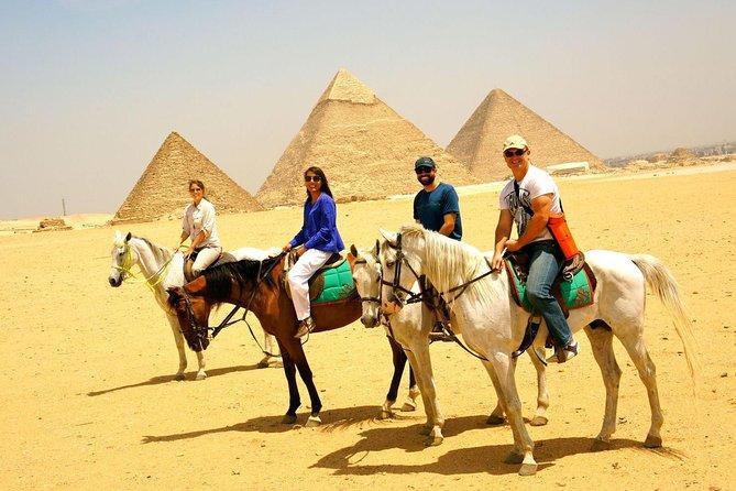 Horse Ride at Giza Pyarmids During Sunset