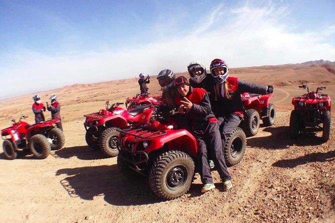 Escapada de un día guiada en quad y paseo en camello desde Marrakech