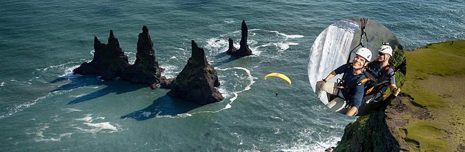 South Coast Private Tour from Reykjavik with Tandem Paragliding Flight