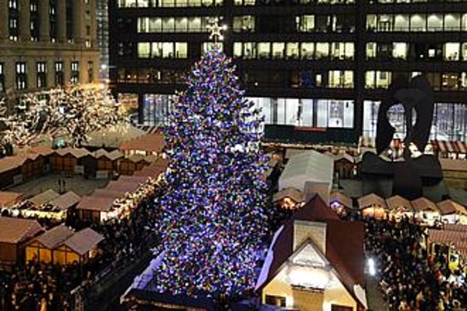 Chicago Christmas Market.Chicago Holiday Lights Trolley And Christmas Market Tour