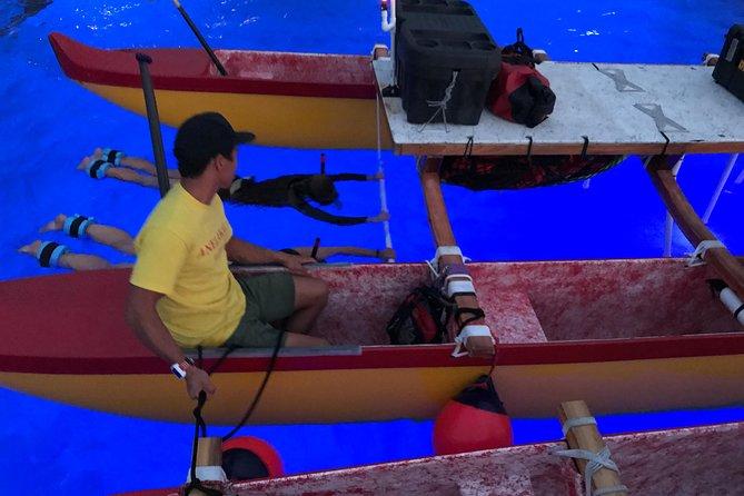 Hawaiian Double Hull Canoe Eco-Friendly Night Snorkel for Manta Rays