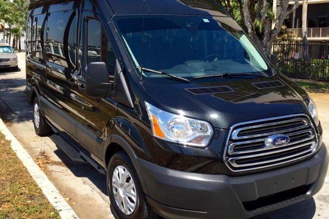 14 passenger black luxury Van