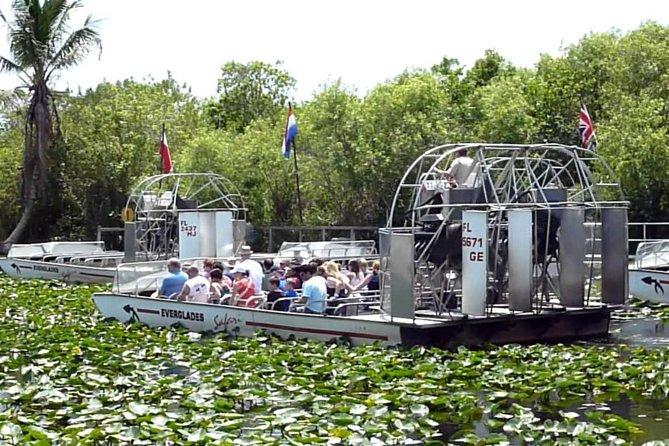 Excursão de aerobarco por Everglades com transporte terrestre privado