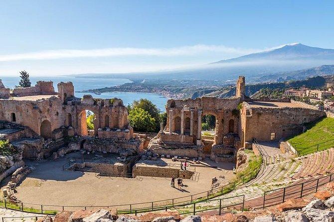 Etna and Taormina from Cefalù