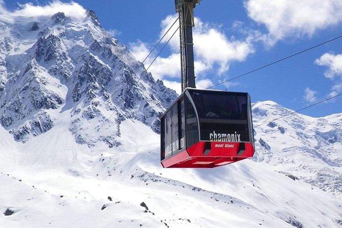Viagem diurna para Chamonix Mont Blanc saindo de Genebra com passeio opcional de bondinho e almoço