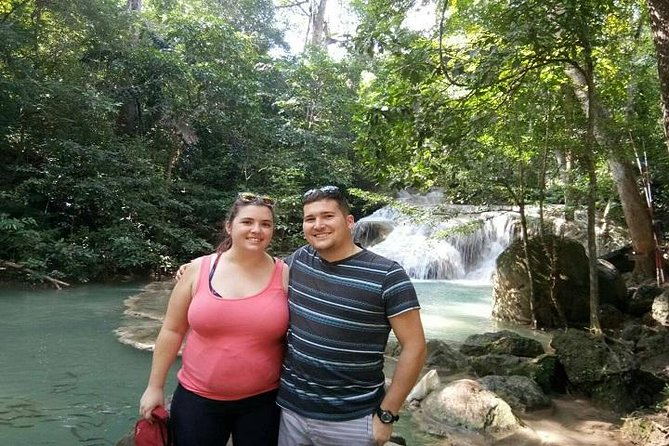 Private Tour: Kanchanaburi Erawan Waterfall, Bamboo Rafting with Thai-Burma Death Railway Tour from Bangkok