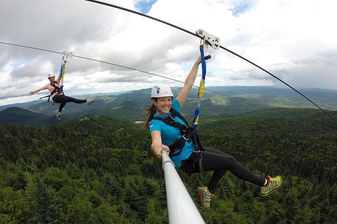 Begeleide zipline-tocht in Mont Tremblant